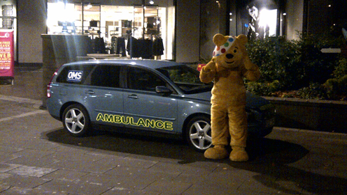 Pudsey with our medical vehicle