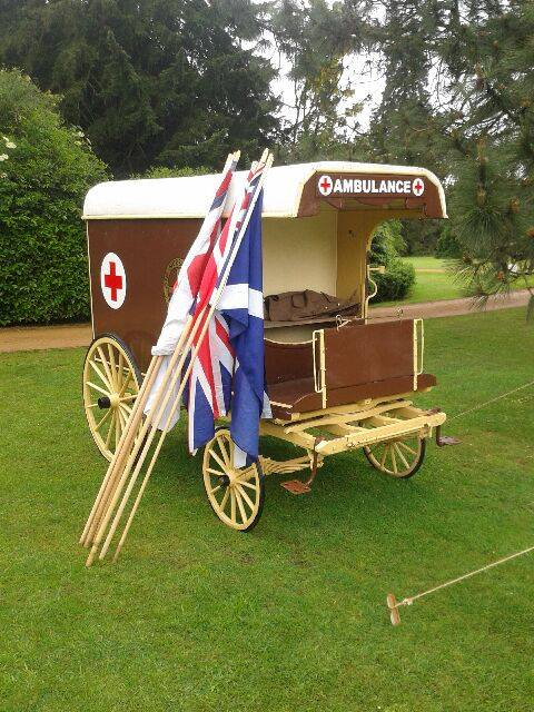Old Style Horse and Cart Ambulance